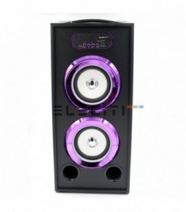 Wireless Speaker Bluetooth MP3 Player Chrome with USB FM Radio and LED Lights MOD: ELEKBQ164
