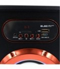 Altavoz Inalámbrico Bluetooth Reproductor MP3 Cromado con USB Radio FM y Luces LED MOD:ELEKBQ164
