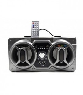 Wireless Bluetooth Speaker with Karaoke and Microphone USB Player FM Radio and LED Lights Mod: ELET720