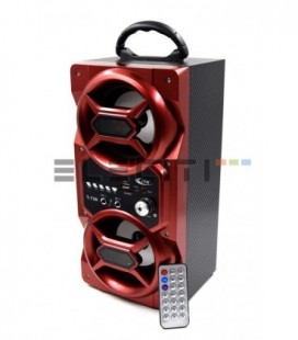 Altavoz Bafle Bluetooth Karaoke Reproductor USB MicroSD Radio FM y Luces Led