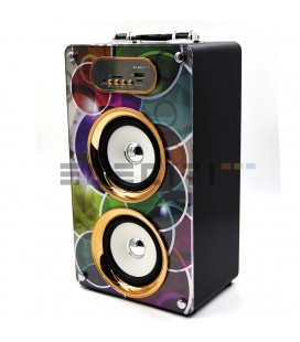 Altavoz bafle con Bluetooth reproductor de MP3 con USB y Radio FM MOD:ELEKBQ162