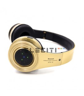 Large Stereo Bluetooth Headset with LED Lights FM Radio and MicroSD Reader MOD: ELESTN19