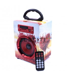 Altavoz Bluetooth Diseño Exclusivo Reproductor MP3 con USB y Radio Fm MOD:ELEE105