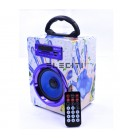 Altavoz Bluetooth Diseño Exclusivo Reproductor MP3 con USB y Radio Fm