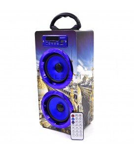 Altavoz Exclusivo con Bluetooth Reproductor de MP3 USB y Tarjetas SD con RadioFM ELEE020