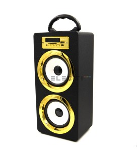Altavoz Exclusivo con Bluetooth Reproductor de MP3 USB y Tarjetas SD con RadioFM ELEE022