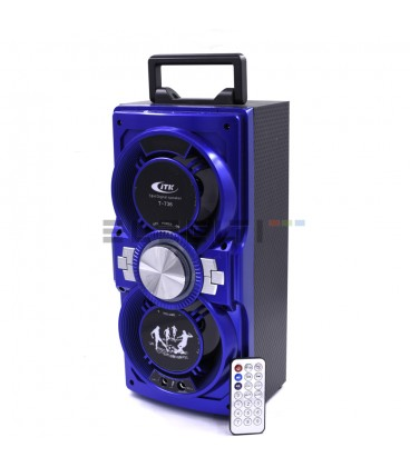 Altavoz Bafle Inalámbrico Bluetooth+ Karaoke + Microfono y Reproductor USB+ Luces LED MOD:SUPT736ER