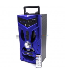 Altavoz Bafle Inalámbrico Bluetooth con Karaoke y Reproductor USB Luces LED MOD:ELET710