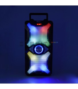 Altavoz Bafle Inalámbrico Bluetooth con Karaoke y Reproductor USB con Luces LED