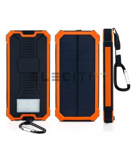 Power Bank Solar 20000 mAh with LED flashlight ELEDLH29
