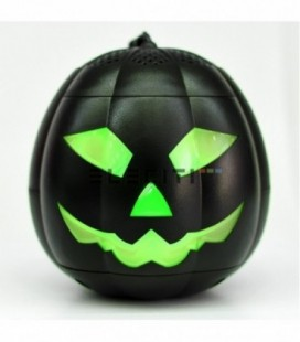 Altavoz Halloween mini calabaza con Bluetooth y luces LED MOD:ELE8614